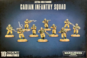 Warhammer 40,000 Astra Militarum Cadian Infantry Squad/Shock Troops