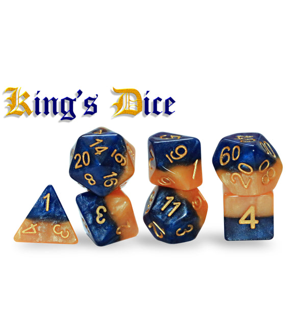 Halfsies Dice: King's Dice 7ct Polyhedral Set