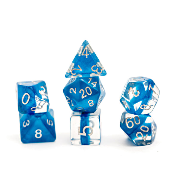 Neutron Dice: Power Teal 7ct Polyhedral Set