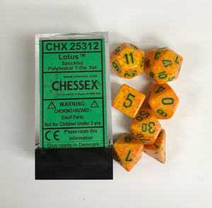Chessex Speckled Lotus 7ct Polyhedral Set (25312)