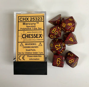 Chessex Speckled Mercury 7ct Polyhedral Set (25323)