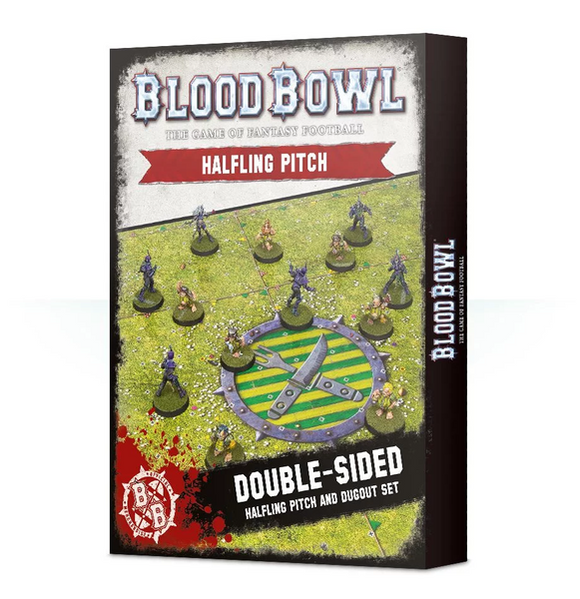 Blood Bowl: Halfling Team Pitch & Dugout Set