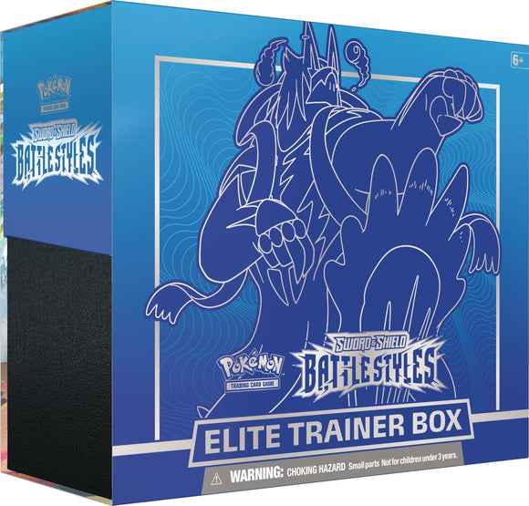 Pokemon TCG Sword & Shield Battle Styles Elite Trainer Box Blue