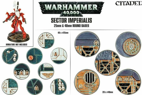 Warhammer 40,000 Sector Imperialis 25 & 40mm Round Bases