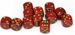 Chessex 16mm Speckled Strawberry 12ct D6 Set (25704)