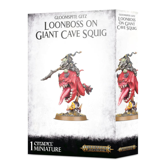 Warhammer Age of Sigmar Gloomspite Gitz Loonboss on Giant Cave Squig