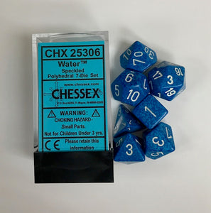 Chessex Speckled Water 7ct Polyhedral Set (25306)
