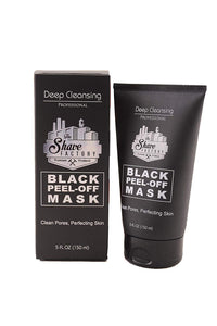 The Shaving Factory Peel Off Black Mask 5 oz
