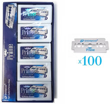 Load image into Gallery viewer, Dorco Prime Platinum Double Edge Blades - 100 Blades #STP-301