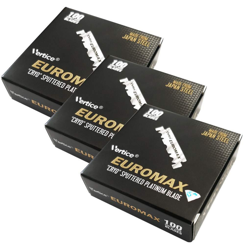 Euromax ''Cryo'' Sputtered Platinum Single Edge Blade - 100 Blades