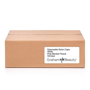 Graham Beauty Disposable Salon Cape White