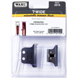 Wahl T-Wide Adjustable Trimmer Blade For 5 Star Detailer Retro  T-Cut #2215