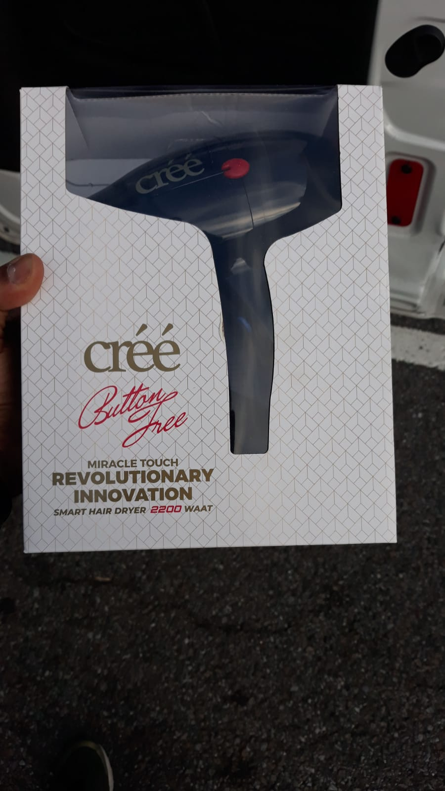 Créé Hair Dryer / button free