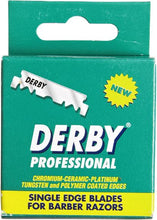 Load image into Gallery viewer, Derby Professional Single Edge Razor Blades - 100 Blades