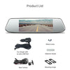 "Image of Dual Mirror Dash Camera - 7"" Touch Screen 1080P Front and Rear"