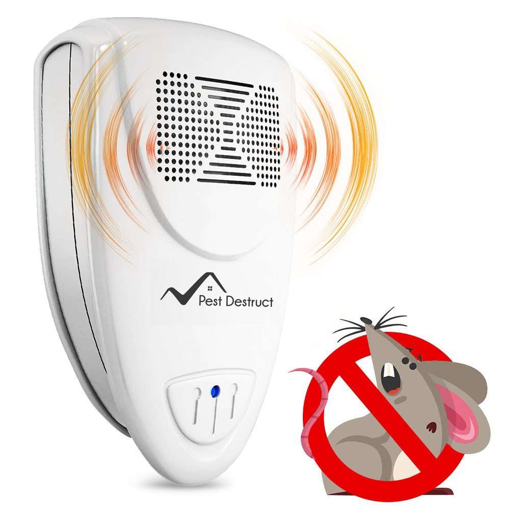 Ultrasonic Mice Repellent - PACK OF 4 - Get Rid Of Mice In 48 Hours Or It's FREE