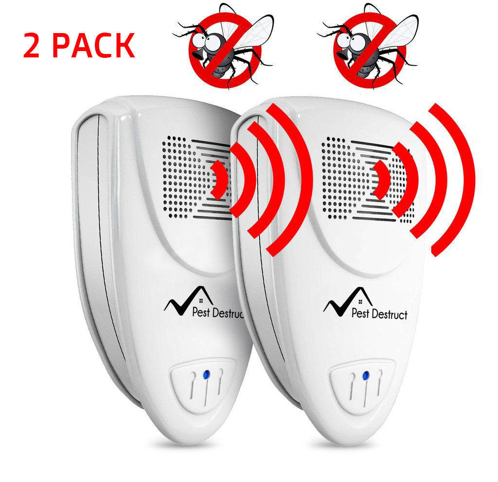 Ultrasonic Fly Repellent - Pack of 2 - Get Rid Of Flies In 48 Hours Or It's FREE