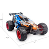 Image of Remote Control Car, Blue High Speed Racing Car - Double Batteries