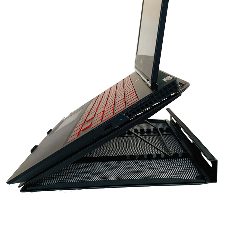 "Laptop Stand Portable Multi-Angle Holder for all 10-17"" Laptops - Black"