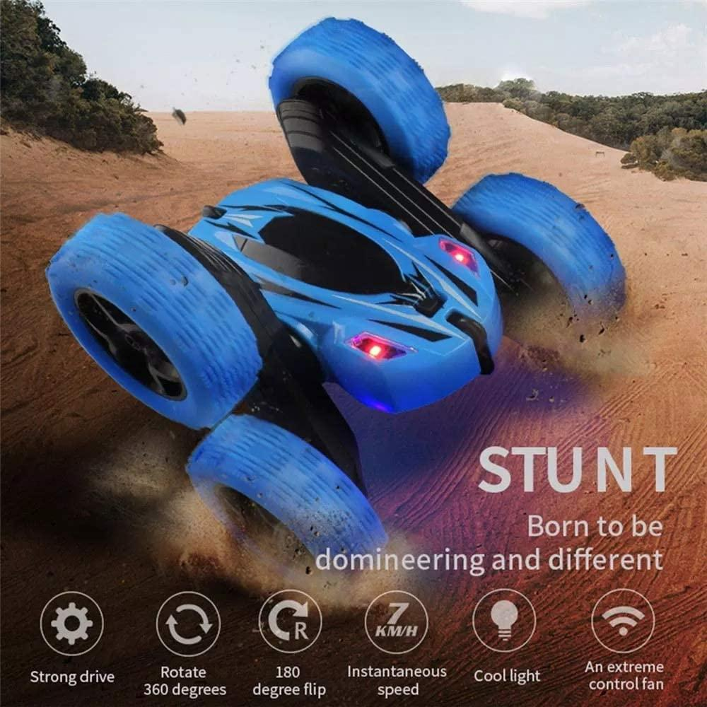 Remote Control Car 360° Rotating LED Headlights Blue