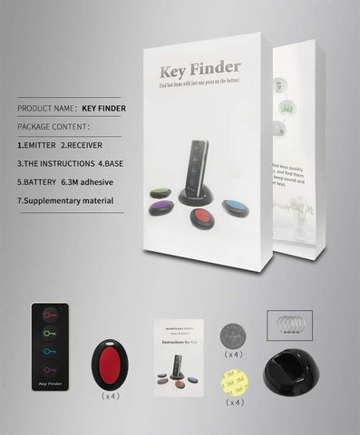 Key Finder - Wireless Key RF Locator - 100 ft Range