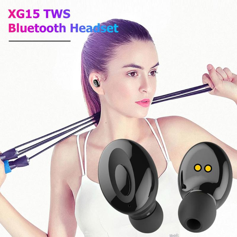 Wireless Earbuds with Wireless Charging Case IPX5 Waterproof - Black