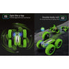 Image of Remote Control Car, Green RC Double Sided 360° Rotating  - Double Batteries