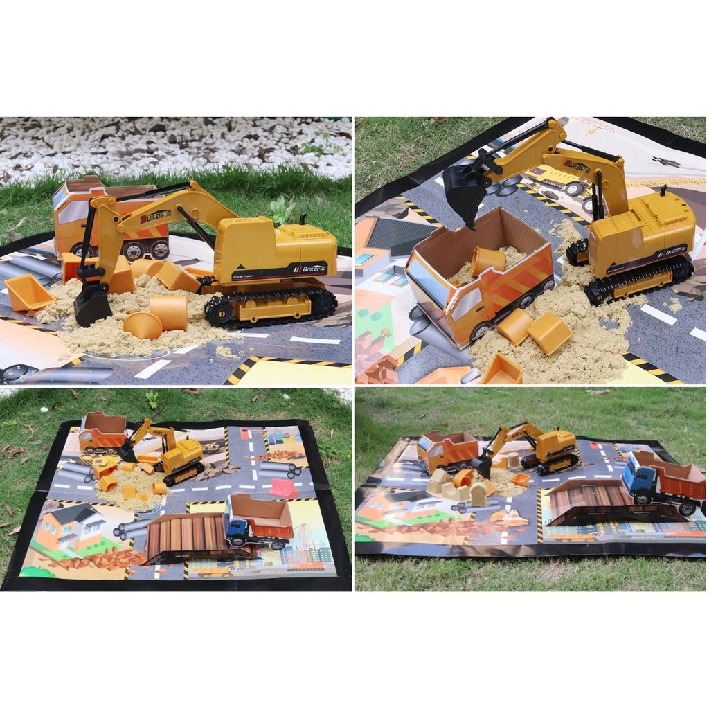 Remote Control Excavator Set RC Toy 1:16 - Double Batteries