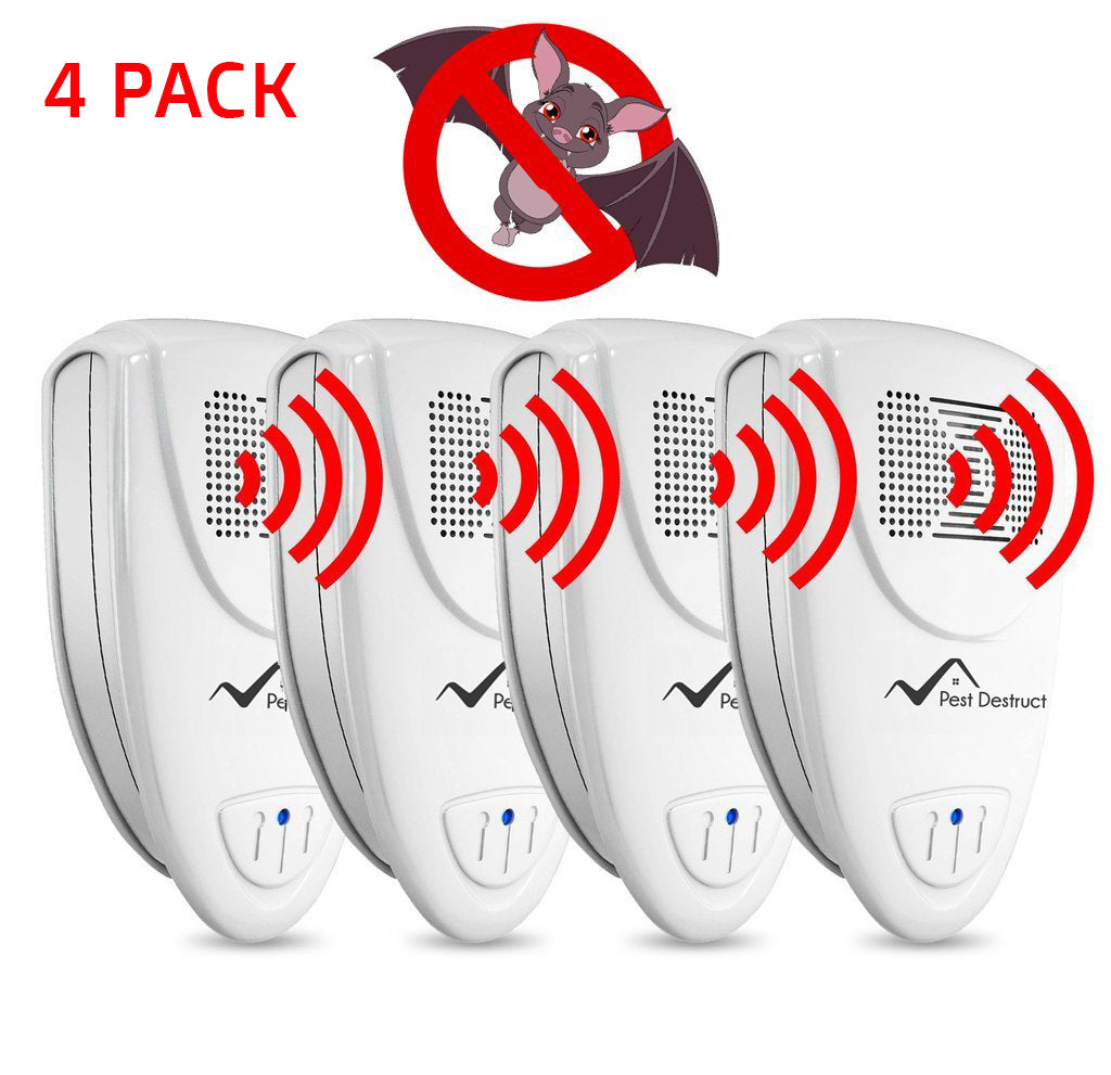 Ultrasonic Bat Repellent - PACK of 4 - Get Rid Of Bats In 48 Hours Or It's FREE
