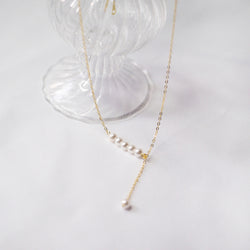 Lynette Drop Pearl Necklace