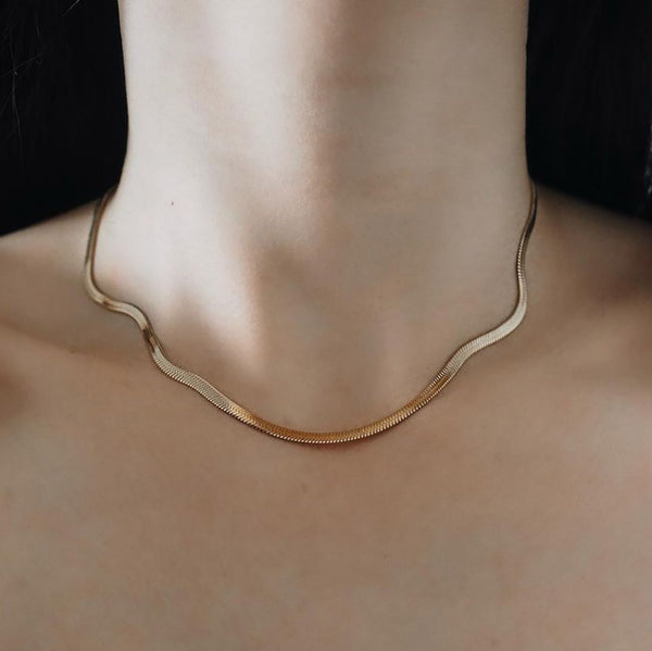 Snake Herringbone Necklace