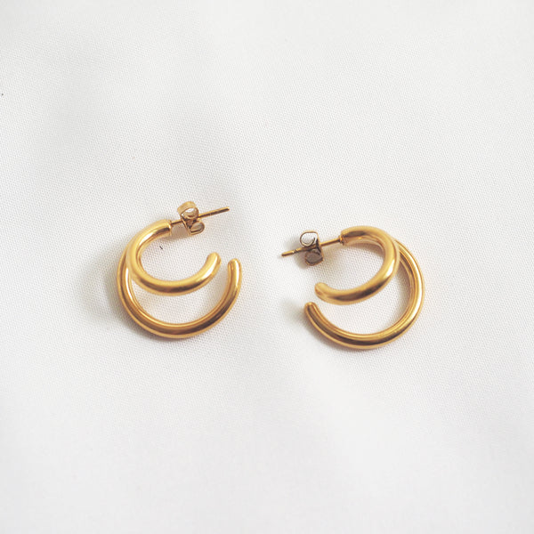 Yayoi Double Hoop Earrings