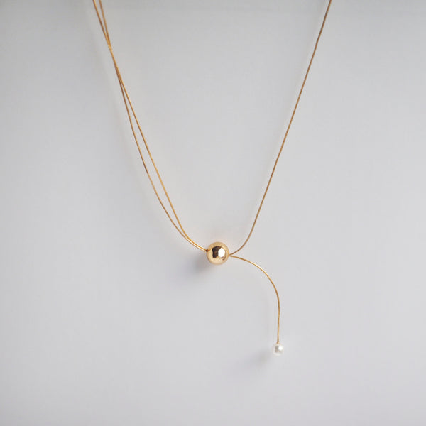 Edmee Pearl Drop Necklace
