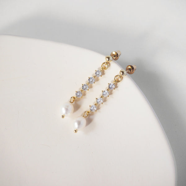 Madeleine Pearls Drop Earrings