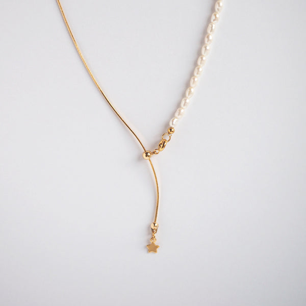 Emy Star Drop Necklace