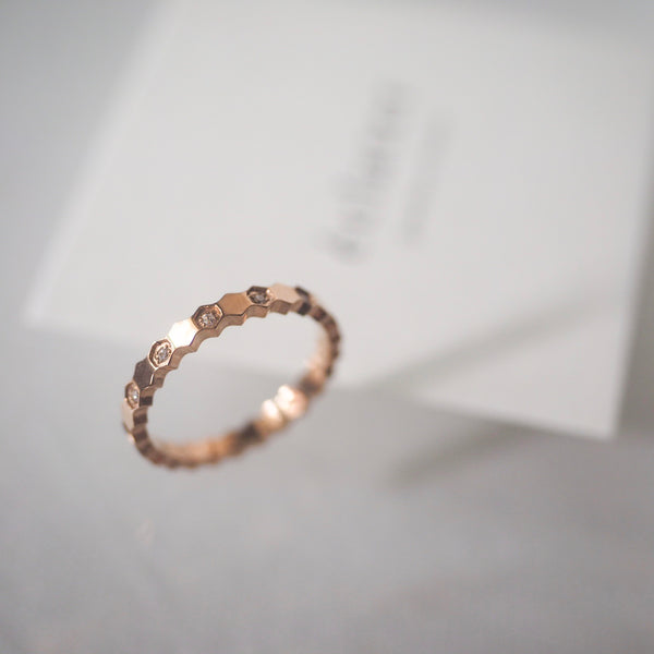Hexagon Rose Gold Ring