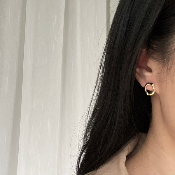 Hermine Irregular Hoop Earrings