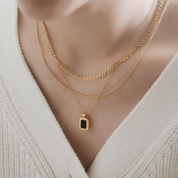 Delphine Double Chain Necklace