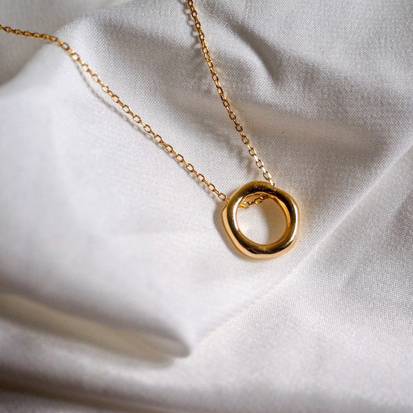 Quinn Irregular Hoop Necklace
