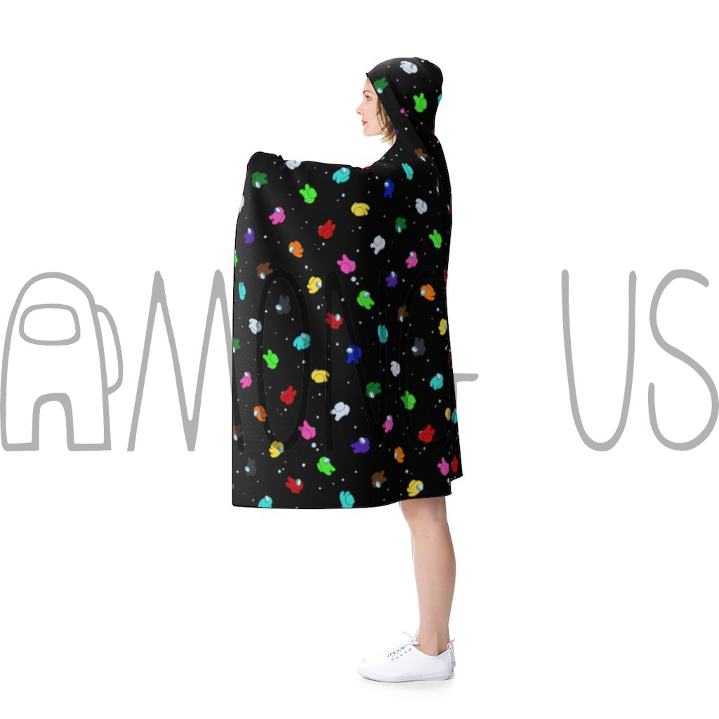 Among Us: Crewmate Space Party Hooded Blanket