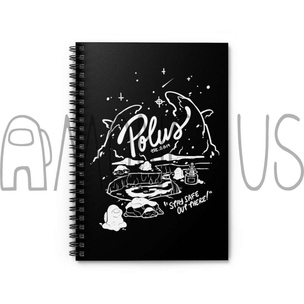 Among Us: Stay Safe on Polus Spiral Notebook - Ruled Line