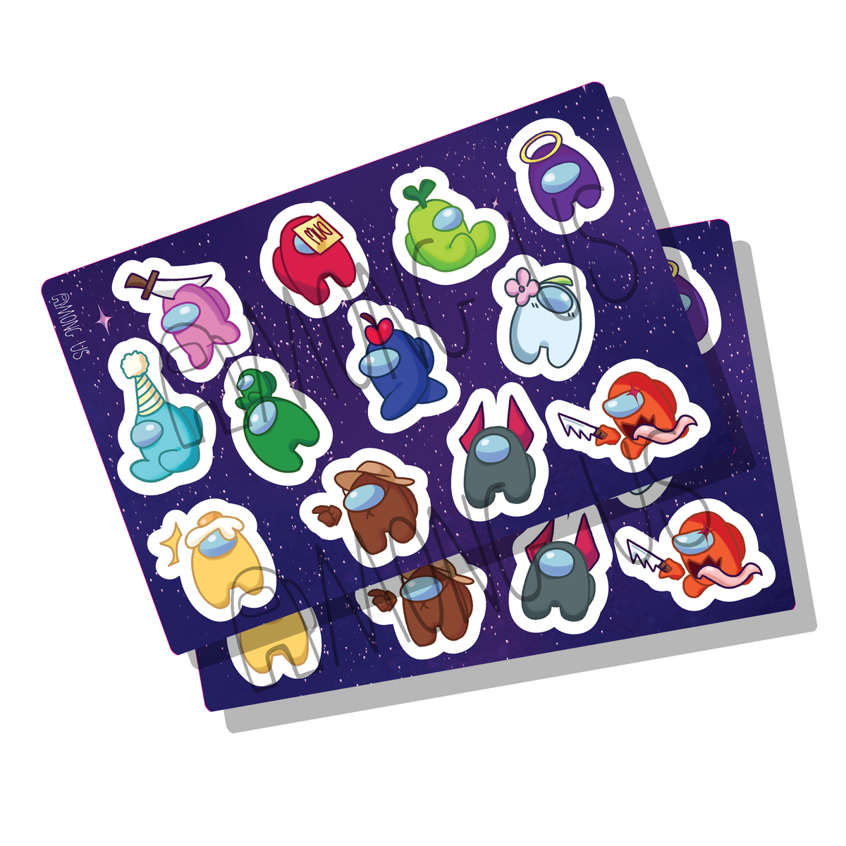 Among Us: Space Bean Sticker Sheet by Shantel Smith