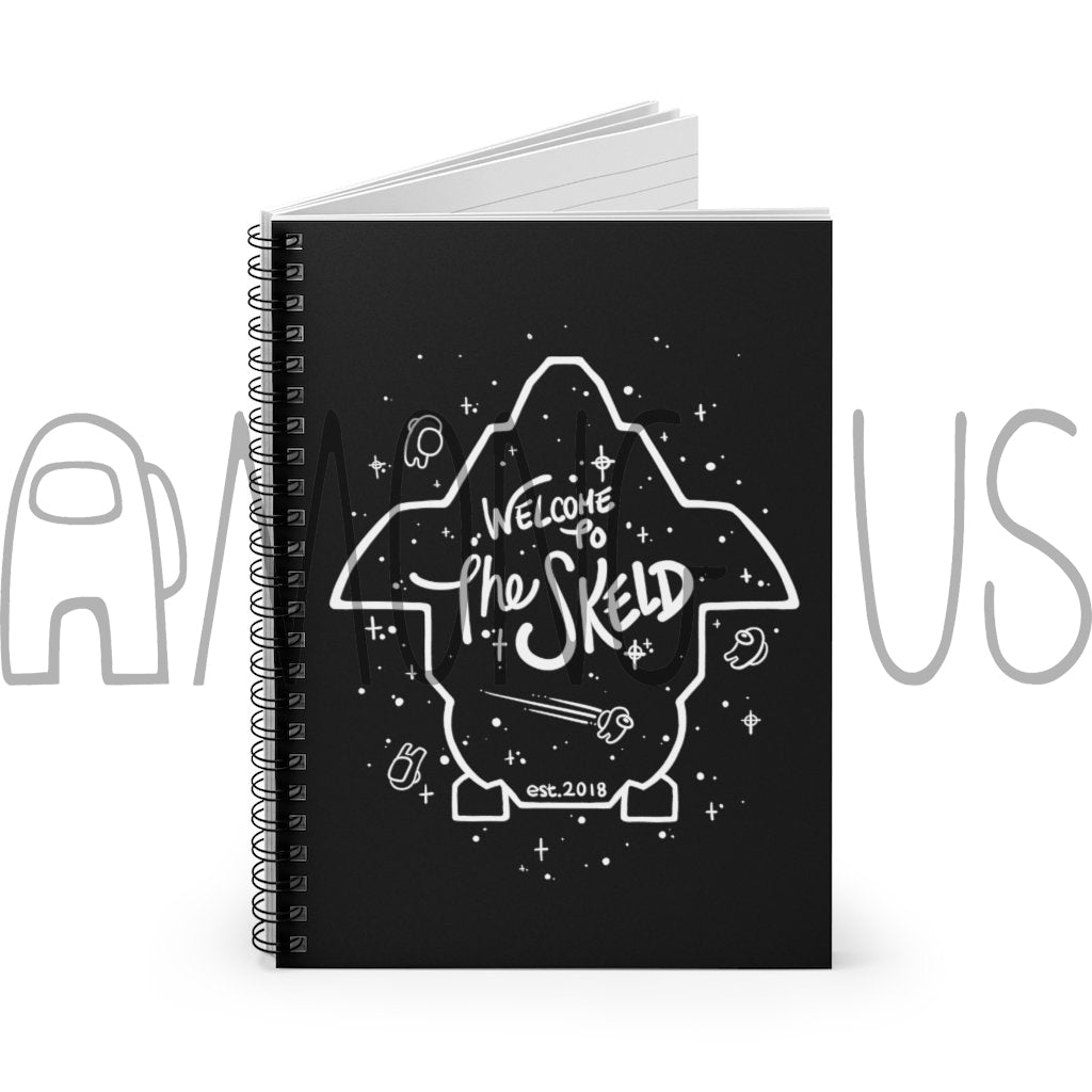 Among Us: Welcome to The Skeld Spiral Notebook - Ruled Line