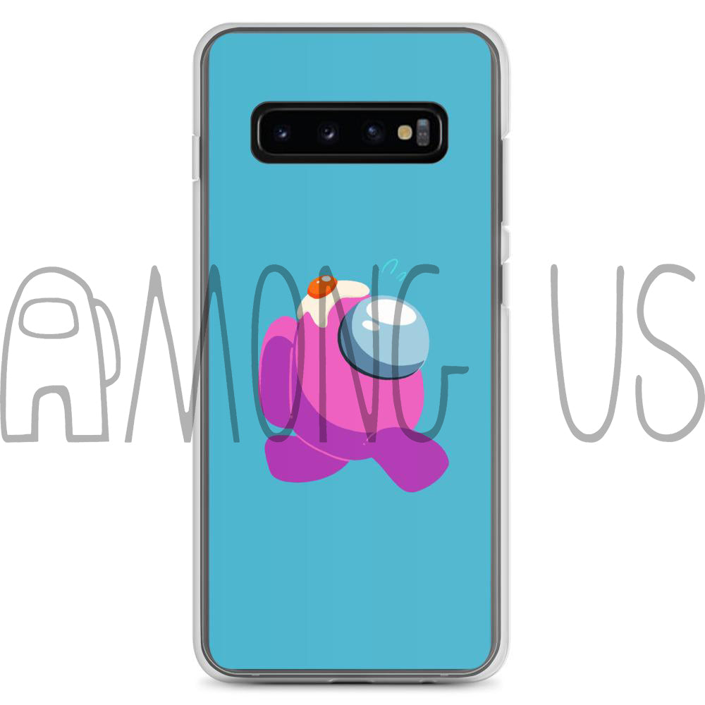 Among Us: Pink Egg Cell Samsung Phone Case