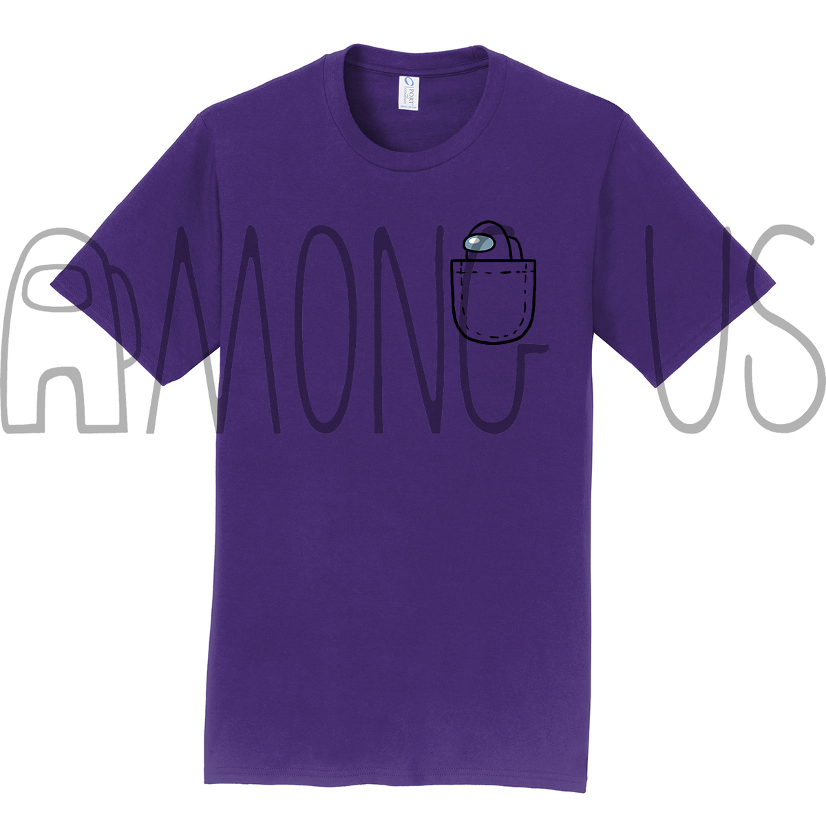 Among Us: Mini Crewmate Pocket Tee (Warm Colors)