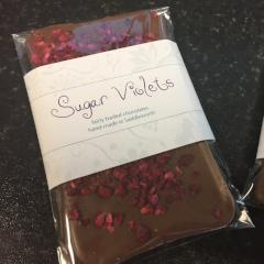 Dark Chocolate Bar With Freeze Dried Raspberries