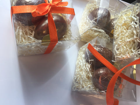 Nest of Golden Milk Chocolate Eggs