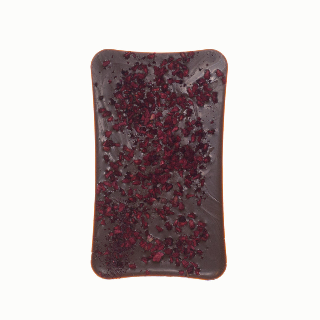 Milk Chocolate Bar With Freeze Dried Raspberry