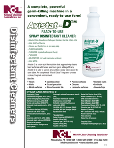 Case of 12 One Liter NCL Avistat-D Disinfectant Cleaner