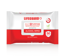 "Load image into Gallery viewer, LIFEGUARD MULTI-PURPOSE ALCOHOL WIPES -""PCR""-(36 per case)- $2.40 each/$86.25 per case"